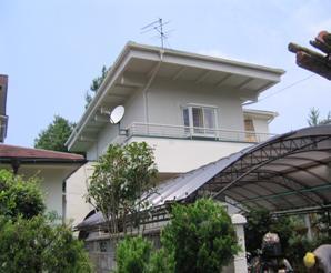 大阪府堺市 H様邸 外壁シリコン塗装工事 屋根・バルコニー防水工事