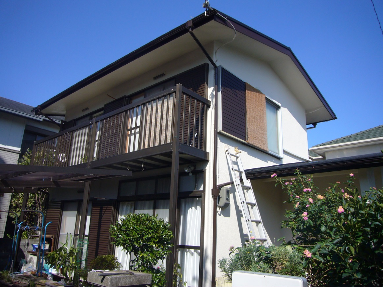 箕面市 外壁シリコン塗装、カラーベスト屋根葺き替え