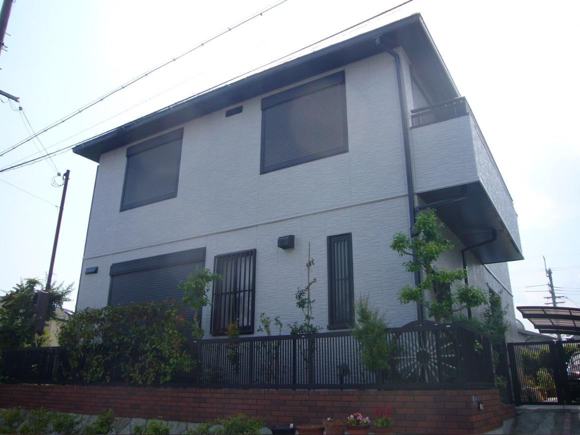 箕面市 外壁フッソ塗装・屋根ガイナ塗装