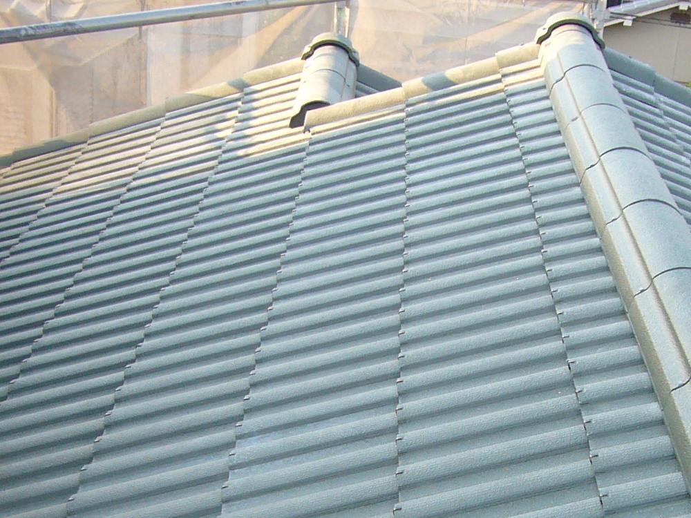 屋根 日本瓦から軽量瓦(ルーガ雅)に葺き替え