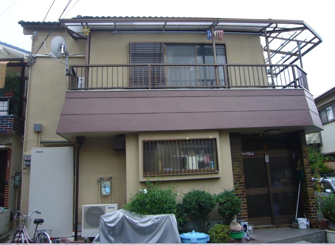 外壁塗装 外壁フッソ塗装、屋根軽量瓦葺き