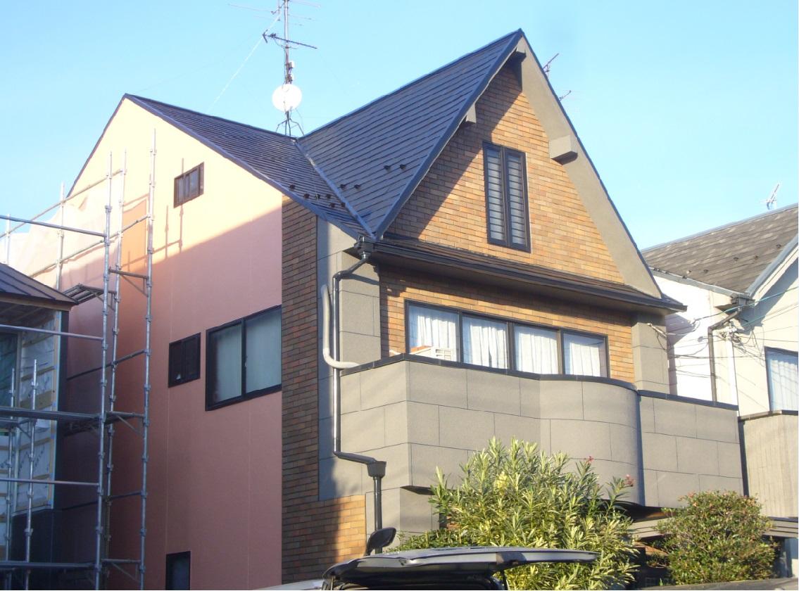茨木市 外壁フッソ塗装・屋根シリコン塗装