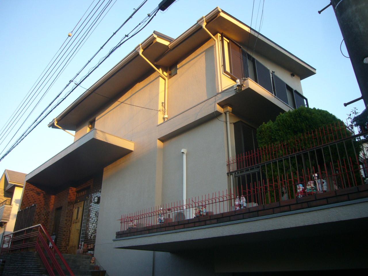 神戸市 外壁フッソ塗装・屋根ガリバリューム鋼葺き