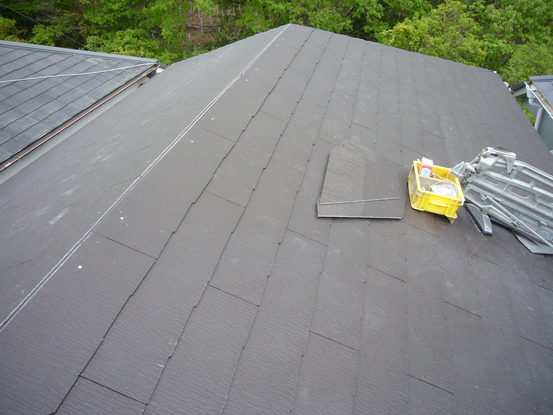 神戸市 [カバー工法]カラーベスト屋根葺き替え