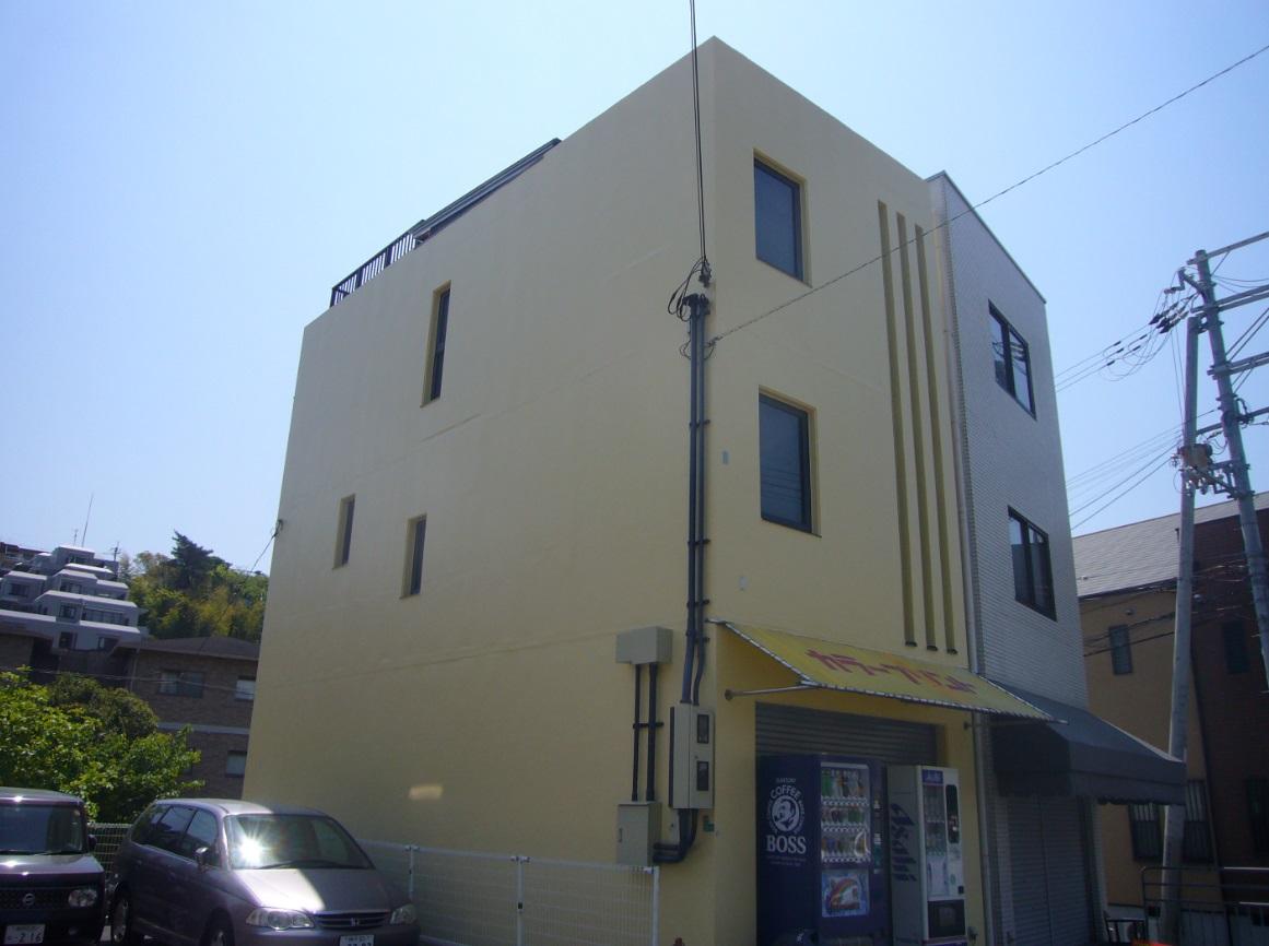 茨木市 外壁シリコン塗装・屋上シート防水