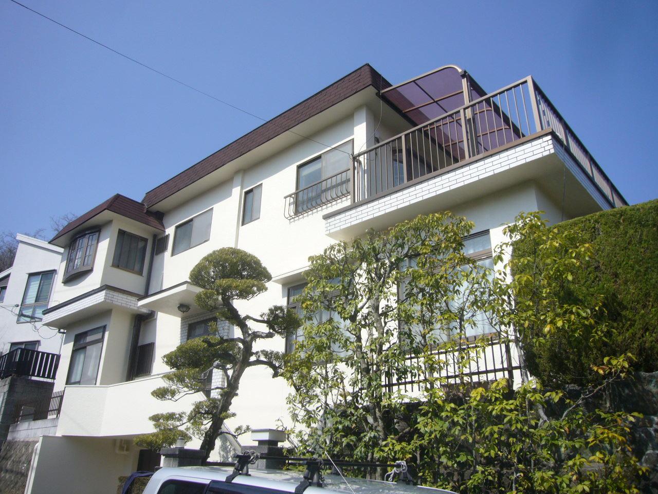 茨木市 外壁フッソ塗装工事