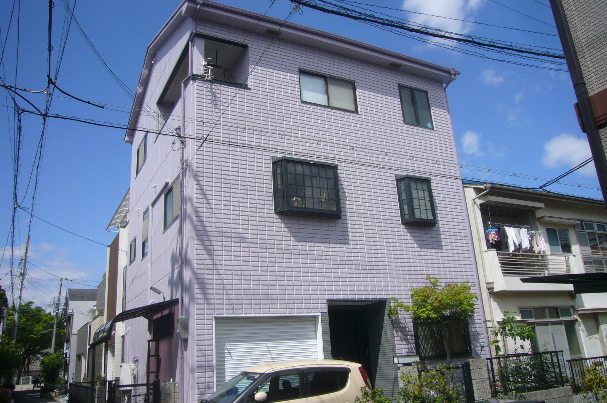 大阪市F様邸 外壁日本ペイントパーフェクトトップ塗装、シーリング打ち