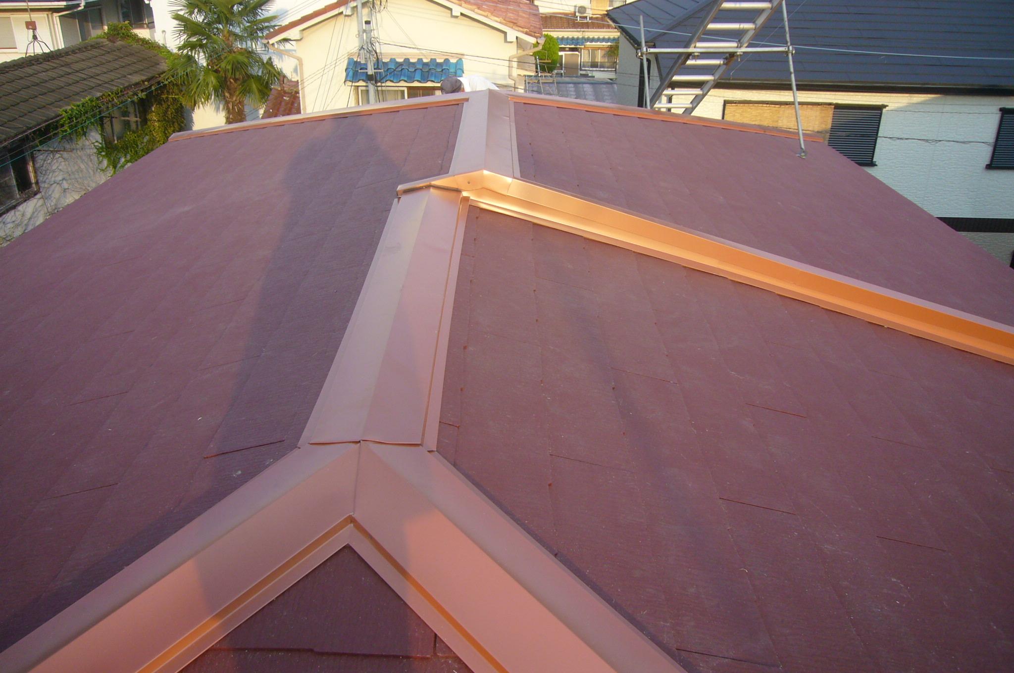 カラーベスト屋根葺替え(カバー工法)