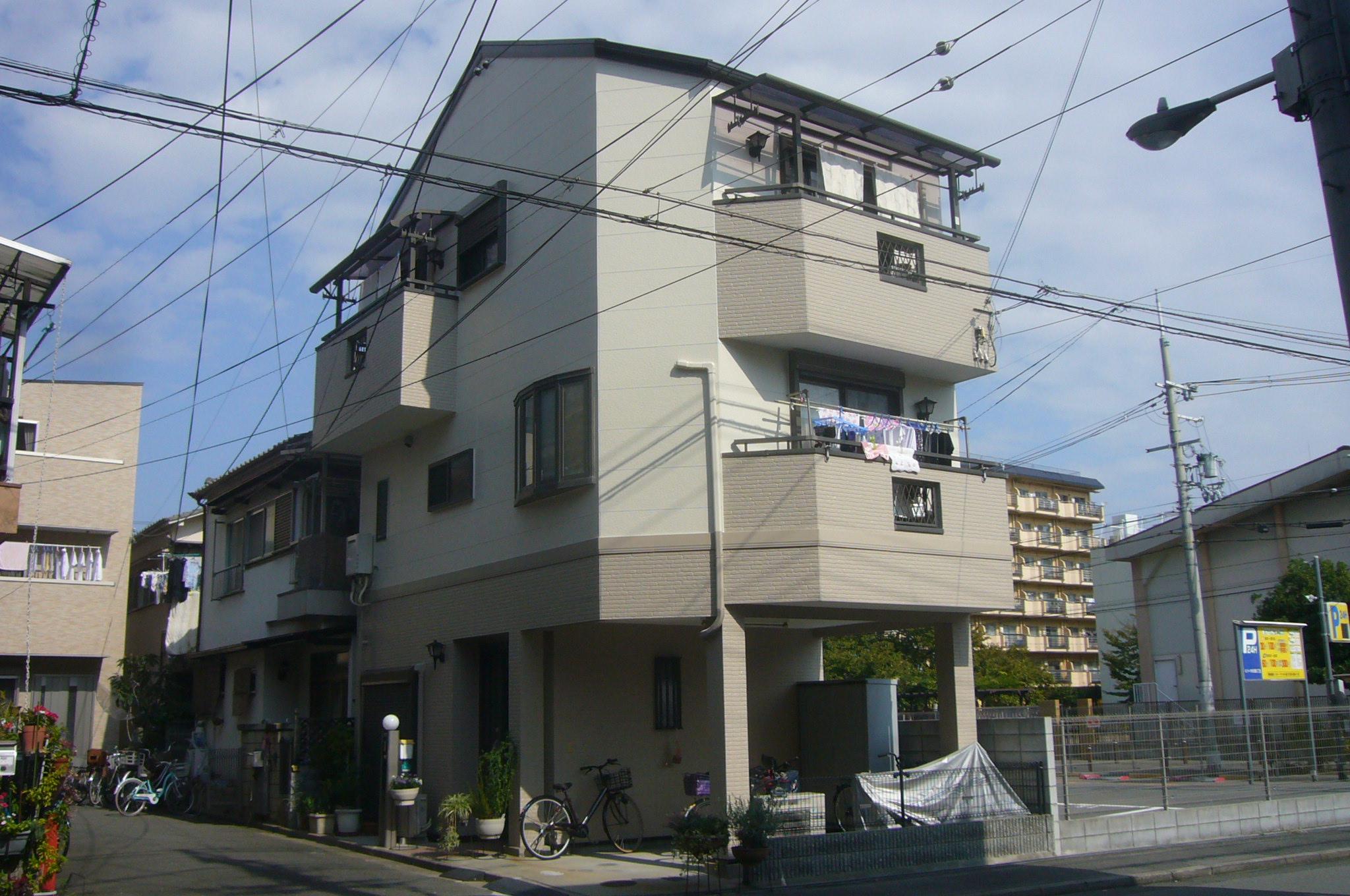 大阪市O様邸 外壁・屋根リフレッシュ工事、シーリング工事