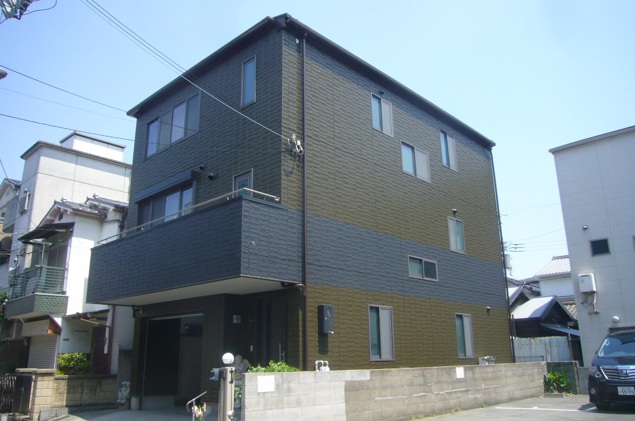 大阪市此花区 S様邸 パ-フェクトトップでおしゃれに外壁塗装