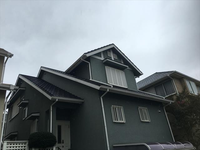 和泉市 セメント瓦屋根塗装