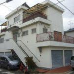 東大阪市の3階建て住宅で外壁塗装の現場調査