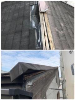 摂津市で台風被害を受けた3階建て住宅の外壁・屋根改修工事