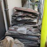平野区の屋根葺き替え工事は廃材が大量です