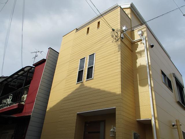 豊中市でサイディング外壁を耐用年数15年のパーフェクトトップで塗り替え